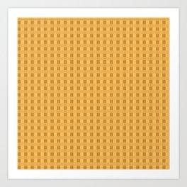 Retro Orange Squares Art Print