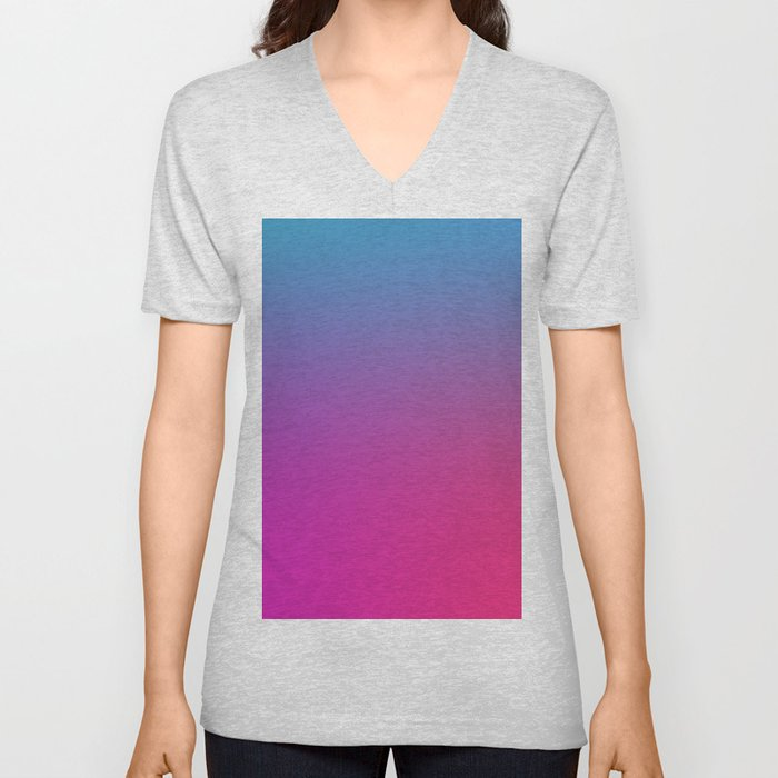 WIZARDS CURSE - Minimal Plain Soft Mood Color Blend Prints Unisex V-Neck