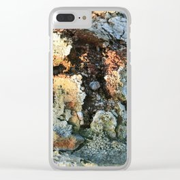 Growths on the Rocks by Geysers in Iceland Clear iPhone Case
