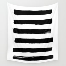 black paint stripes Wall Tapestry