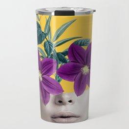 Floral Portrait 2 Travel Mug