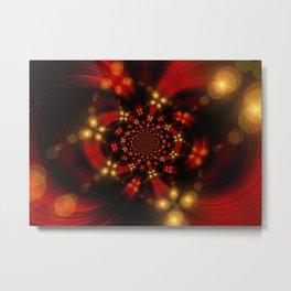 Christmas-Fractal Metal Print