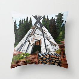 Walking Out Ceremony Teepee Throw Pillow
