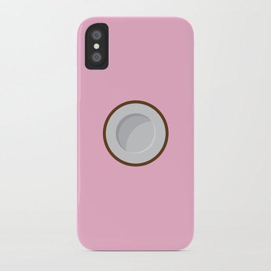 Coconut print iPhone Case