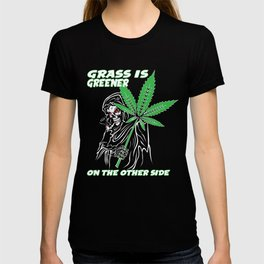 A Unique Detailed Zombie Tee For Yourself? T-shirt Saying Grass Is Greener On The Other Side Design T-shirt