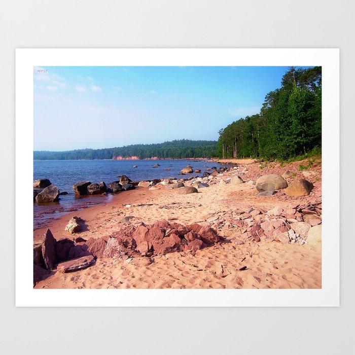 Summer Shores of Lake Superior Art Print