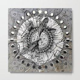 Wax On Metal Print