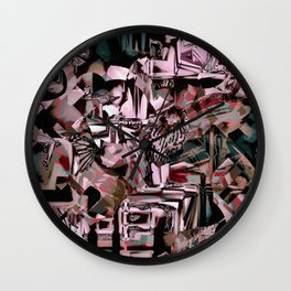 Cubist Abstract Wall Clock