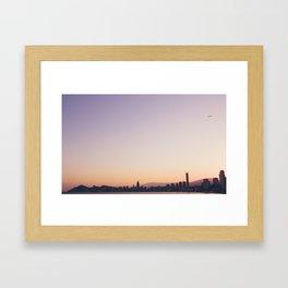 Sunset over Benidorm Framed Art Print