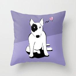 Bull terrier love Throw Pillow