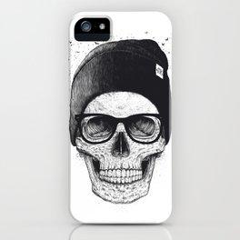 Black Skull in a hat iPhone Case