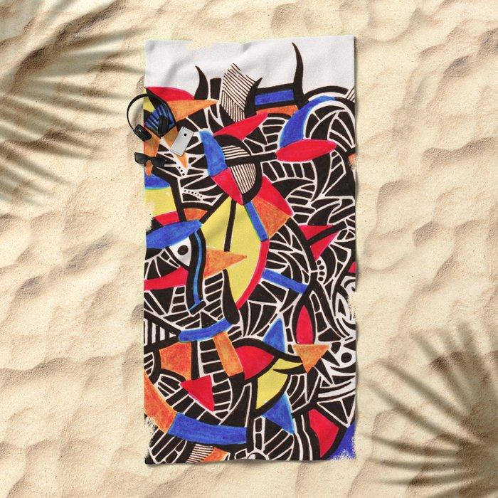 - romantic gate - Beach Towel