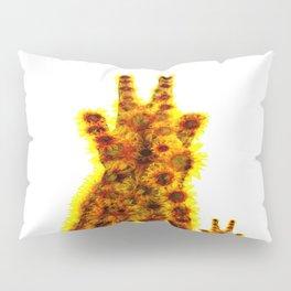 sunflowers mom giraffe Pillow Sham