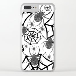 Black And White Halloween Clear iPhone Case