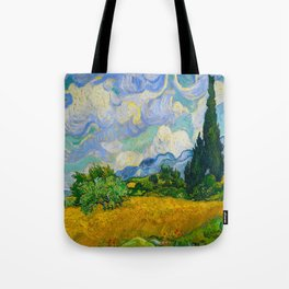 Wheat Field with Cypresses Vincent van Gogh Oil on canvas 1889 Tote Bag
