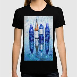 Wine Bottles Reflection T-shirt