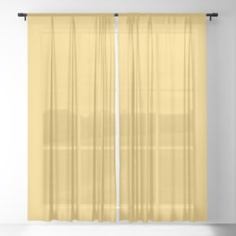 Mellow Yellow Sheer Curtain