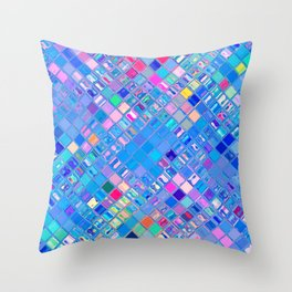 Re-Created  Mosaic No. EIGHT by Robert S. Lee Throw Pillow