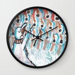 Christmas #1 Snow Choir Wall Clock