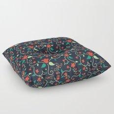 Tangled Flowers Floor Pillow