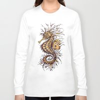 seahorse Long Sleeve T-shirts featuring Seahorse by TAOJB