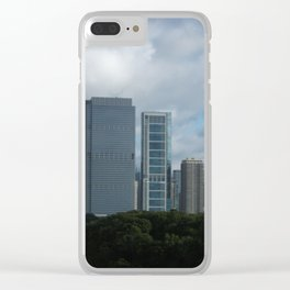 Chicago Skyline, Cloudy Day in Chicago Clear iPhone Case