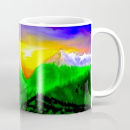 When sun rising up in the mountains ... Coffee Mug