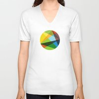 kaleidoscope V-neck T-shirts featuring Kaleidoscope by Marina Design