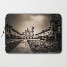 The stunning Piazza Ducale in Vigevano in autumn while raining Laptop Sleeve