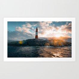 Faro del Fin del Mundo (Faro Les Eclaireurs) II Art Print