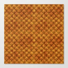 Quilted Dusty Orange Velvety Pattern Canvas Print