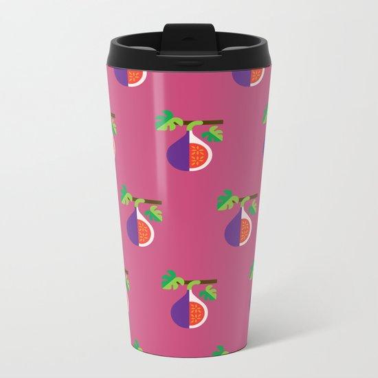 Fruit: Fig Metal Travel Mug
