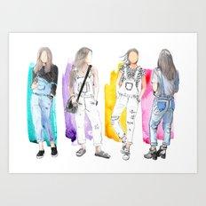Overalls Art Print