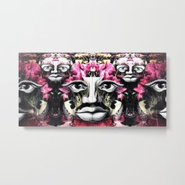 Eyes, Noses, Lips Metal Print