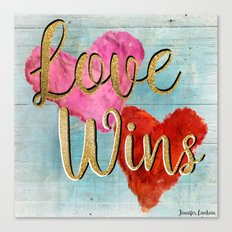 Love Wins Canvas Print