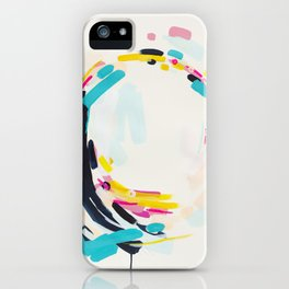 Yesterday to Tomorrow - abstract painting by Jen Sievers iPhone Case