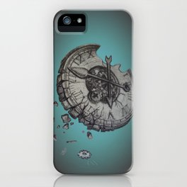 Shattered Time iPhone Case