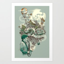 'In Tune with Nature' Art Print