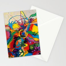 The Disintegration of a Highly Colored Fish Eye Stationery Cards