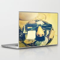 mustache Laptop & iPad Skins featuring Mustache.  by Francessca.n.Angel