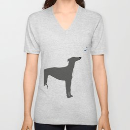 Whippet Dog Unisex V-Neck