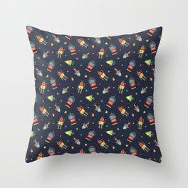 Rockets&Robots DK Throw Pillow