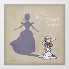 The Princess Inside Canvas Print
