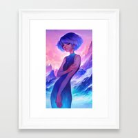 loish Framed Art Prints featuring frost by loish