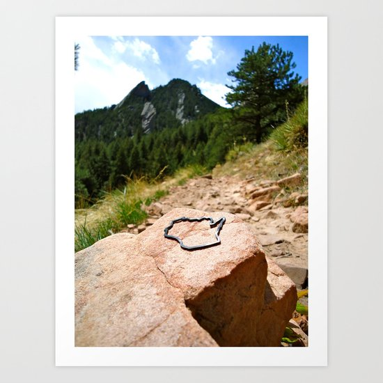 Wisco Meets Boulder Art Print
