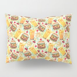 burgers, juices & fries Pillow Sham