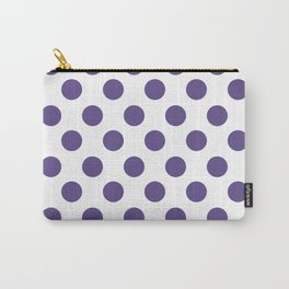 Ultra Violet Medium Polka Dots Carry-All Pouch
