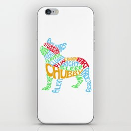 Frenchie Word Cloud iPhone Skin