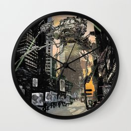 Martian attack Wall Clock