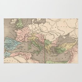 Vintage Map of The Roman Empire (1838) Rug